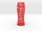 VoroVase 01 in Red Strong & Flexible Polished