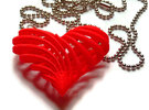 My twisted heart in Red Strong & Flexible Polished
