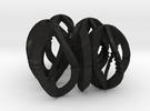 Modern Art Dice Set (D1-D7) in Black Acrylic
