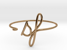 SF Wire Bracelet (San Francisco) in Polished Brass