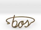 BOS Wire Bracelet (Boston) in Raw Bronze