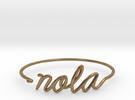 NOLA Wire Bracelet (New Orleans) in Raw Brass