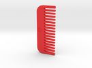 Comb in Red Strong & Flexible Polished