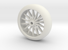 Pinwood Derby Wirewheel in White Strong & Flexible