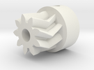 Herringbone Small Gear-1.1-highres in White Strong & Flexible