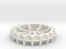 Idler GT2 belt - 19 teeth, 11 mm pitch, full width in White Strong & Flexible