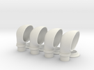 1:16 scale Cowl Vent Set for Elco 80 in White Strong & Flexible