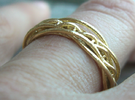 DNA ring in Raw Bronze