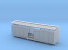 S Scale Swaybacked 1880 Wood Boxcar Redu. Box Curv in Frosted Ultra Detail