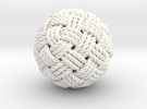 Big Globe Knot in White Strong & Flexible Polished