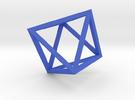 Octahedron(Leonardo-style model) in Blue Strong & Flexible Polished