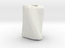 Crumpled Paper Vase  in White Strong & Flexible