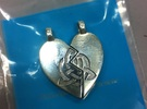 Heart Pendent (Sisters Bond Celtic) in Premium Silver