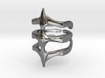 Ring Two Spikes - Elegant modern adjustable