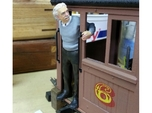 1:20 scale Albert leaning out cab door Hollow
