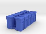 Trash Cart 64 gal - HO 87:1 Scale Qty (10)