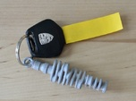 Flat-six crankshaft keychain