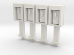 Phone Booth in HO Scale, 4 pack