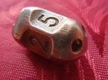Five sided 'pepperpot' dice