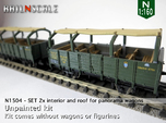 SET 2x Interior and roof for panorama wagon (N)