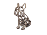 French Bulldog Wireframe Keychain (sitting)