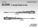 1/35 M2HB w/ muzzle brake (4 set)