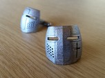 Knight Helmet Cufflinks