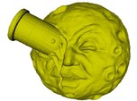 """65mm scale """"A trip to the Moon"""" iconic face bust"""