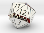 D20 White Monster Figurine