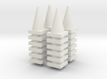 Road Cone Stack (4Pack) 1-87 HO Scale