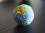 Topographic Earth relief globe