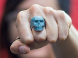 Low-poly Skull Ring