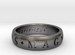 Size 10 Sir Francis Drake, Sic Parvis Magna Ring