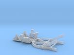 1/87 Boeing Fuselage Icebreaker & Cradles for flat