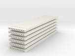 'N Scale' - (6) Precast Panel - Ribbed - 40'x10'x1