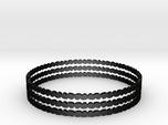 Thin Pebble Bangle Bracelet (Set of Three)