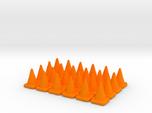 24 Small Traffic Cones