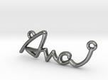 AVA Script First Name Pendant