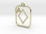 The Ace of Diamond continuous line pendant