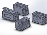 1/48 .50 Cal Ammo cans assorted open and closed (1
