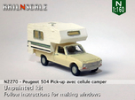 Peugeot 504 Pick-up avec cellule camper (N 1:160)