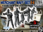 1-35 Merchant Navy Crew Set 1-4
