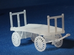 Baggage Cart Kit S Scale Two Pack