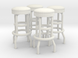 50's soda fountain bar stool 02. 1:22 Scale