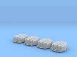 """1/700 RN Triple 6"""" MKXXIII Turrets No Barrels (4)"""
