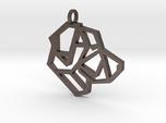 Geometric Labrador Necklace