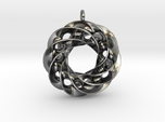 Twisted Scherk Linked 4,3 Torus Knots Pendant