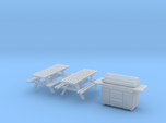 HO Scale BBQ+Picnic Benches