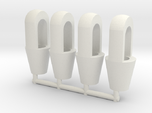 Closed spelter sockets 1:50 for 2mm wire