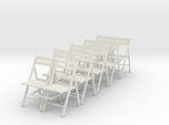 10 1:24 Wooden Folding Chairs